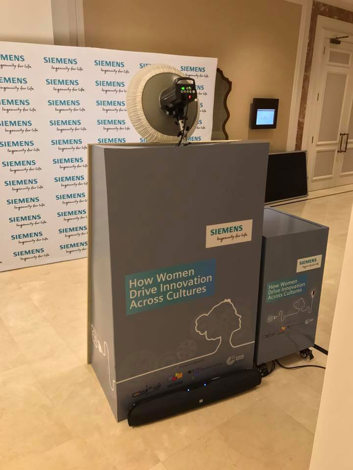 Mirror Me Booth Branded Enclosure For Siemens Events